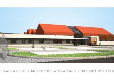 Wizualizacja budynków szkoły