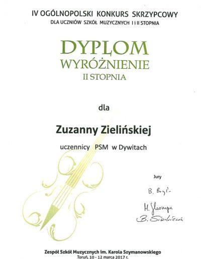 2017 03 10 Zuzanna-Zielińska-wyróżnienie-II-stopnia-724x1024