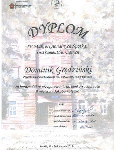 2018 04 23 Dominik Grędziński 72p