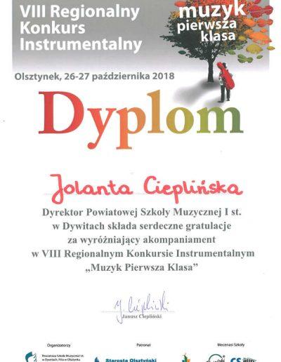 2018 10 26 Jolanta Cieplińska