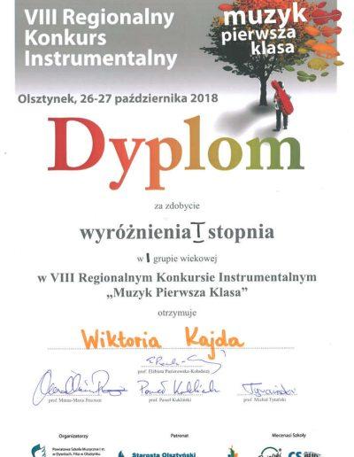 2018 10 26 Wiktoria Kajda