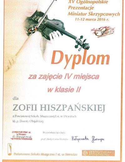 2016 03 11 Zofia Hiszpańska
