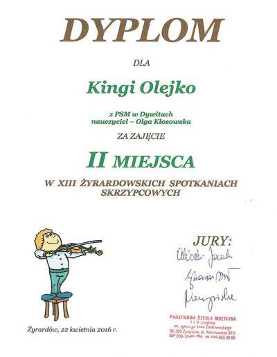 2016 04 22 Kinga Olejk