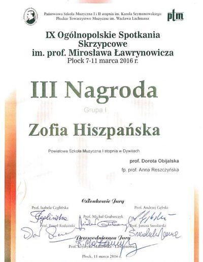 2016 07 11 Zofia Hiszpańska