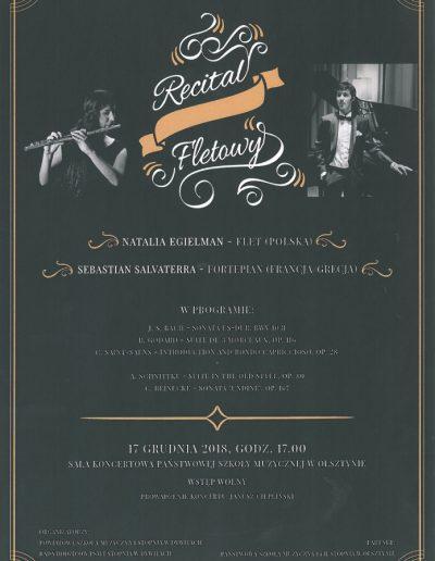 2018 12 17 PLAKAT - recital fletowy 100p