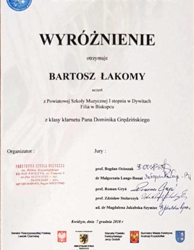 2018 12 07 Bartosz Łakom 100py