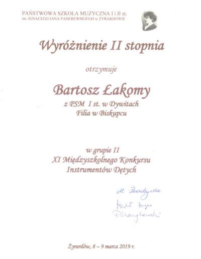2019 03 08 Bartosz Łakomy 100p