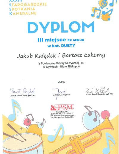 2019 04 05 Jakub Kołędek, Bartosz Łakomy 100p