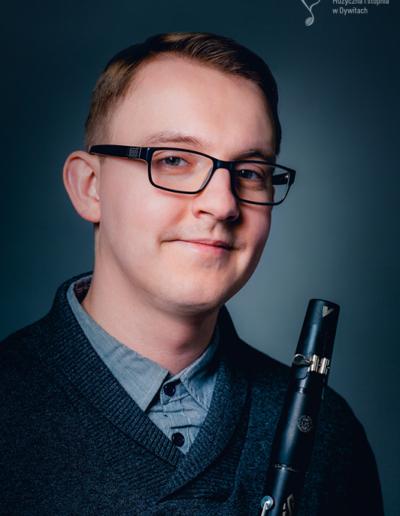 Dominik Gredzinski - kierownik sekcji instrumentów dętych i perkusji